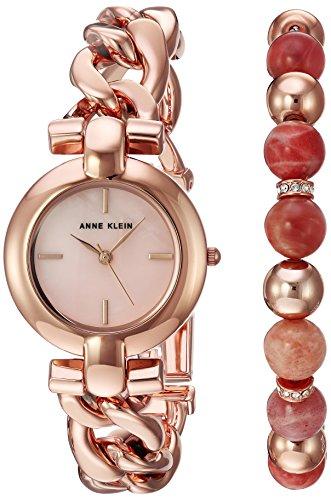 Anne Klein Women's Rose Gold-Tone Bracelet Watch