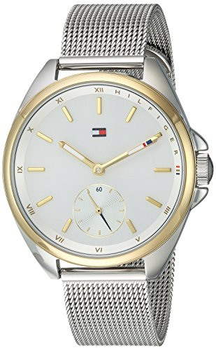 Tommy Hilfiger Women's Casual Sport Silver-and-Gold Quartz Watch