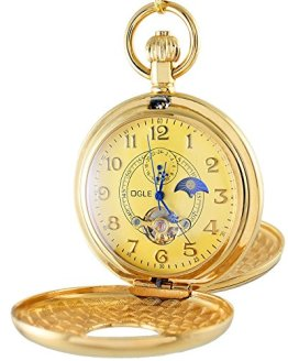 OGLE Vintage Copper Double Cover Mechanical Pocket Watch