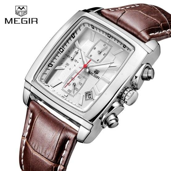 Watches Men MEGIR Brand Leather Strap Casual Watches