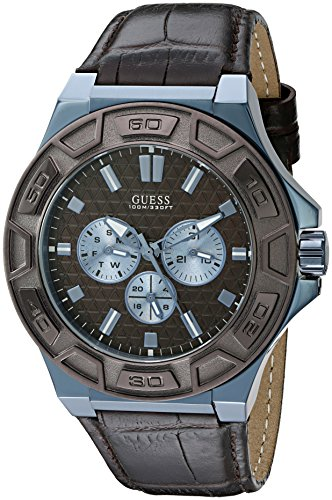GUESS Men's Sporty Blue Stainless Steel Watch