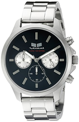 Vestal Unisex HEICM04 Heirloom Chrono Analog Display Quartz Silver Watch