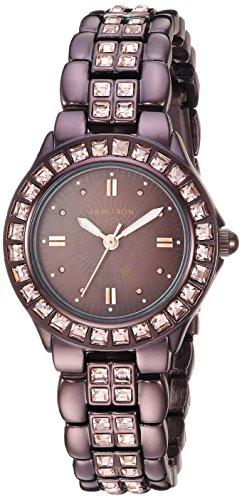 Armitron Women's Swarovski Crystal Accented Brown Ion-Plated Bracelet Watch