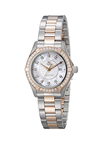 TAG Heuer Women's Aquaracer Analog Display Swiss Quartz Rose Gold Watch
