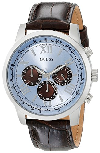 GUESS Men's Dressy Stainless Steel Multi-Function Watch