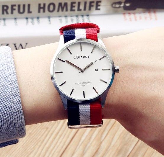 2017 NEW Luxury Brand CAGARNY Men Sport Watches