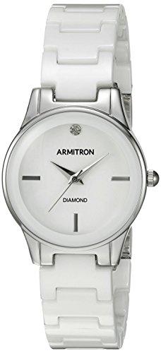 Armitron Women's Diamond-Accented Silver-Tone Watch