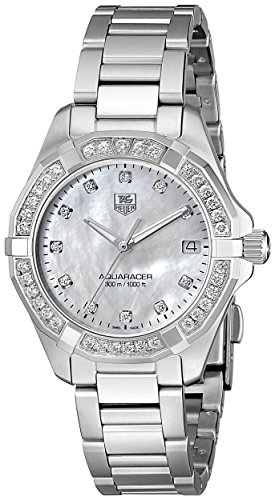 TAG Heuer Women's Aquaracer Diamond-Accented Stainless Steel Bracelet Watch