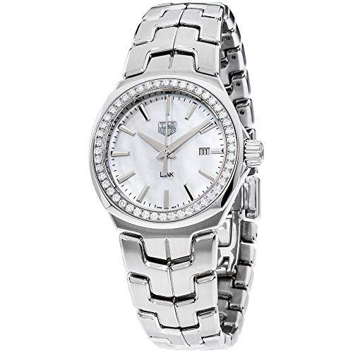 Tag Heuer Link Mother Of Pearl Dial Stainless Steel Ladies Watch