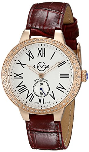 GV2 by Gevril Astor Womens Diamond Swiss Quartz Strap Watch