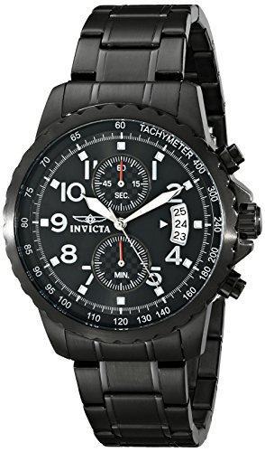 Invicta Men's Specialty Black Ion-Plated Stainless Steel Watch