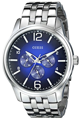 GUESS Men's On Time Stainless Steel Watch