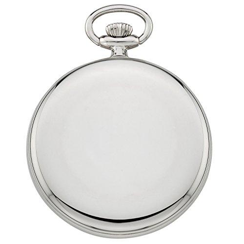 Gotham Men's Silver-Tone Mechanical Pocket Watch Gotham Men's Silver-Tone Mechanical Hand Wind Railroad Pocket Watch # GWC14100SB