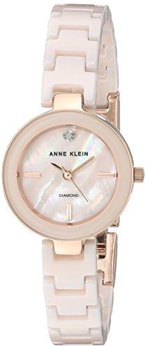 Anne Klein Women's Diamond-Accented Rose Gold-Tone Watch