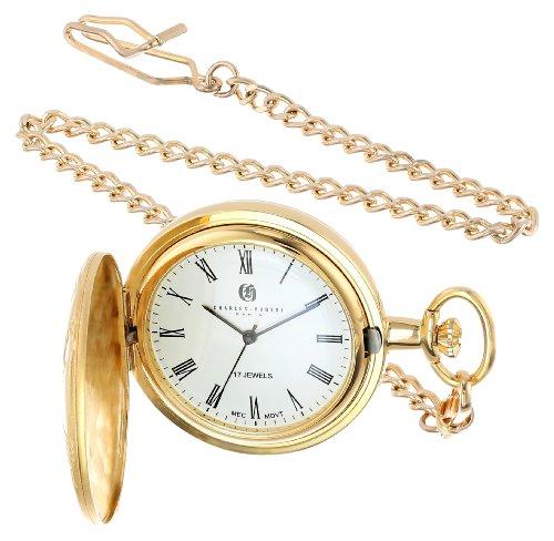 Charles Hubert Gold-Plated Mechanical Pocket Watch