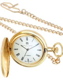 Charles Hubert Gold-Plated Mechanical Pocket Watch