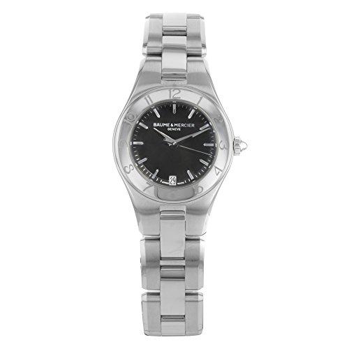 Baume & Mercier Women's Linea Black Dial Stainless Steel Watch