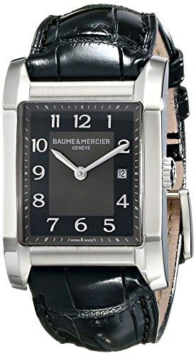 Baume Mercier Women's Hampton Ladies Black Leather Strap Watch