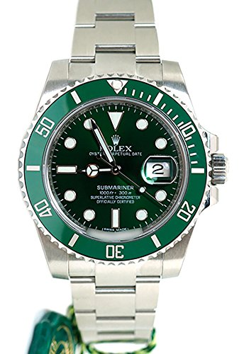 Rolex Submariner Date 40mm Green Dial Mens Watch