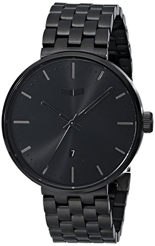 Vestal Unisex Roosevelt Metal Analog Display Analog Quartz Black Watch