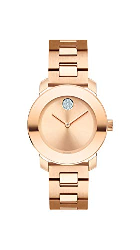 Movado Women's Bold Iconic Metal Rose Gold Watch
