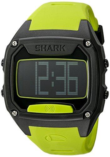 Freestyle Unisex Shark Tooth Digital Display Japanese Quartz Yellow Watch