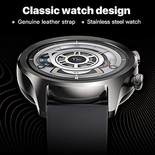 Ticwatch Mobvoi C2, Wear OS by Google Classic smartwatch Ticwatch Mobvoi C2, Wear OS by Google Classic smartwatch, IP68 Sweat and Waterproof, Google Pay, Compatible with iPhone and Android- Onyx