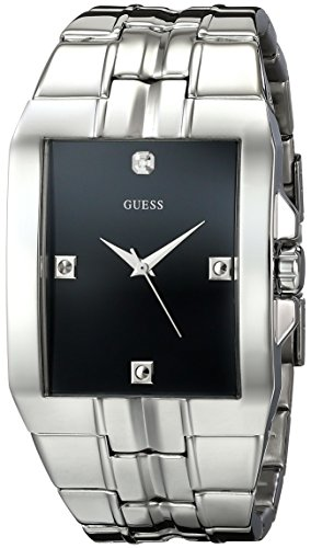 GUESS Men's Dressy Silver-Tone Stainless Steel Watch