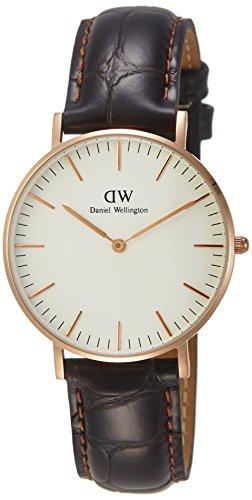 Daniel Wellington Women's Classic York Analog Quartz Brown Leather Watch