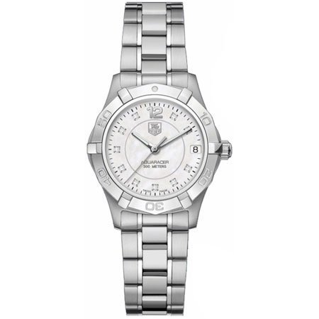 """TAG Heuer Women's """"Aquaracer"""" Stainless Steel and Diamond Watch"""