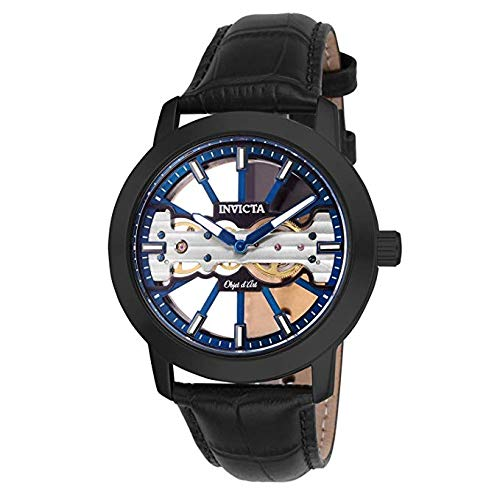 Invicta Men's Objet D Art Mechanical 2 Hand Blue, Black Dial Watch