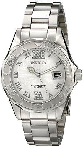 Invicta Women's Pro Diver Analog Silver Watch