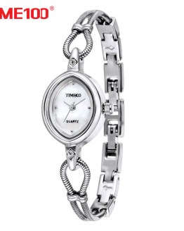 TIME100 Women Watches Silver Alloy Bracelet Shell Dial Ladies Waterproof