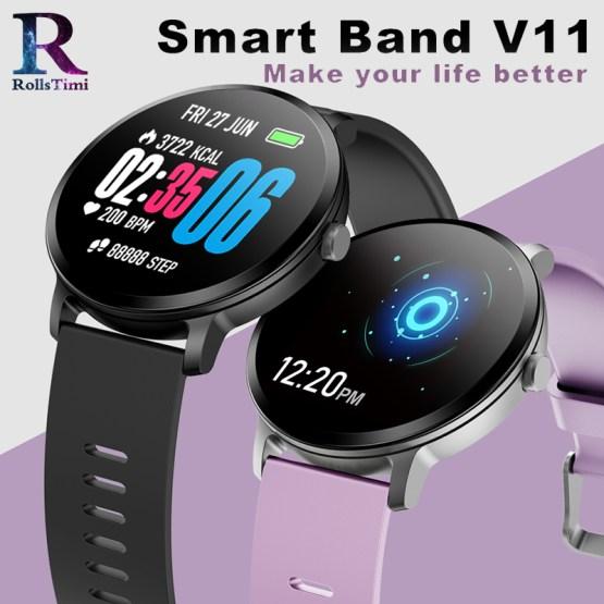 RollsTimi V11 Smart Watch Men Waterproof Glass Color display Fitness