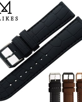 MAIKES New 20mm 22mm Rubber Band Men Dive Sports Watchband