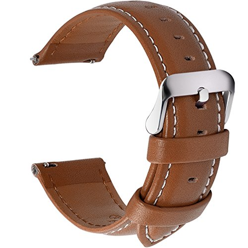 12 Colors for Quick Release Leather Watch Band, Fullmosa Axus Genuine Leather