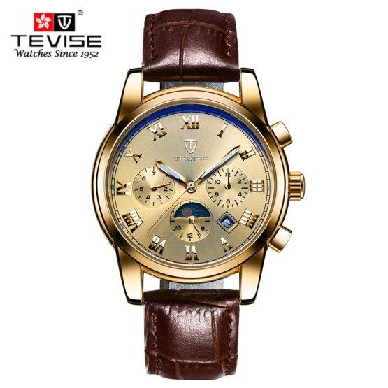 men wrist watch men sport clock TEVISE Luxury brand fashion classic