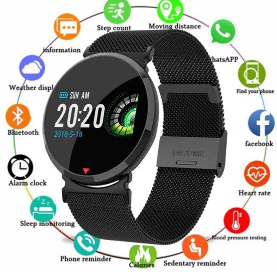 New Smart watch Waterproof Heart Rate Sleep Monitor Blood Pressure