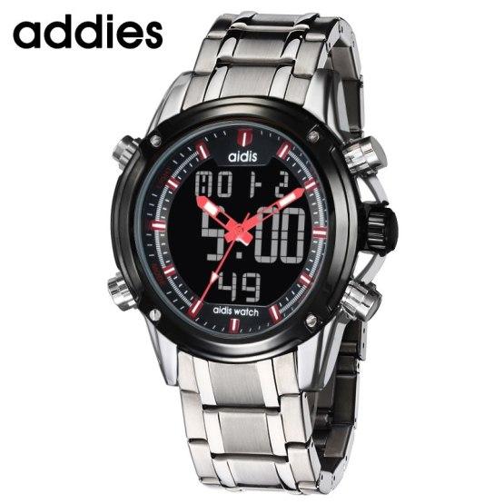 Top Luxury Brand Men Steel Strap Watches Men's Quartz Analog LED Clock