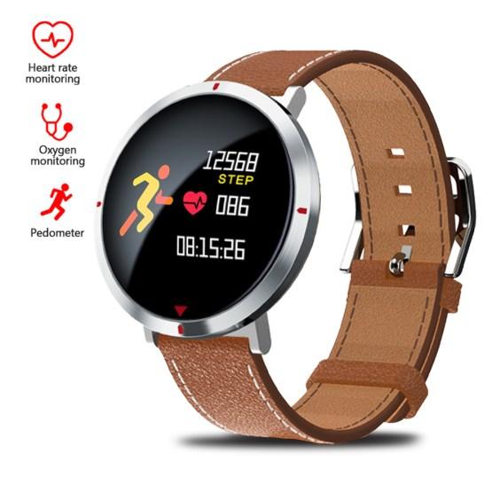 MNWT New S2 Bluetooth Smart Watch Men IP67 Waterproof Leather