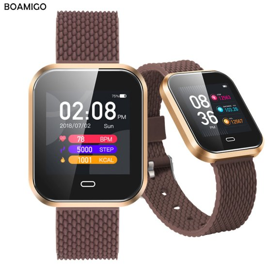 Smartwatch For Android IOS Phone BOAMIGO Smart Bracelet Heart Rate 1. Dropshipping , wholesale are welcome . we will do free ship by dhl categorical in case your order over 300 us {dollars}.