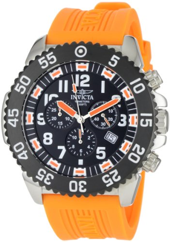 Invicta Men's Pro Diver Stainless Steel and Orange Rubber Watch