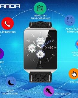 SANDA Bluetooth Smart Watch Men Waterproof Touch Screen Heart rate