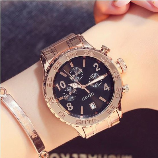 GUOU Rose Gold Watch For Women Watches Dress Wrist Watches