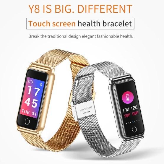 Y8 Smart Bracelet Women Sport Watch Men Fitness Tracker Smartwatch