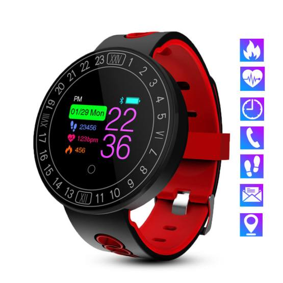 Bluetooth Smart Watch Men Women IP68 Waterproof Pedometer Blood Pressure