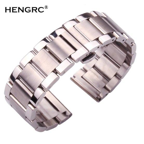 Metal Watch Bracelets Men High Quality Stainless Steel Watchbands Fashion Women Watch Strap