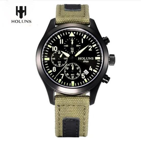 Men Watches Top Brand HOLUNS Pilot Army Military Tactical Quartz Wrist Watch