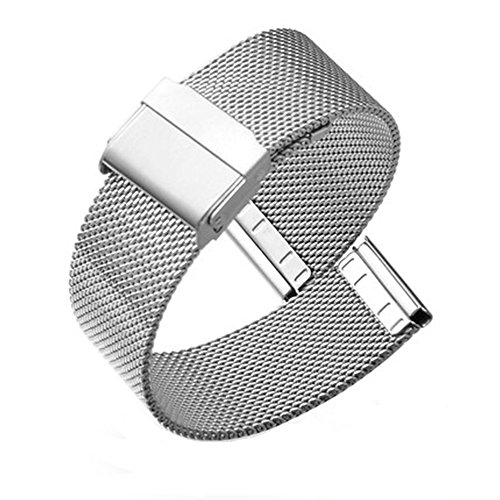 18mm Mesh Milanese Strap Stainless Steel Solid Watch Band Replacement