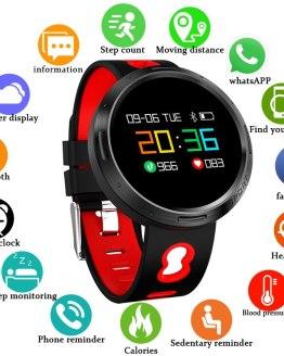BANGWEI 2019 Men Smart sport Watch Women LED Clock Blood Pressure